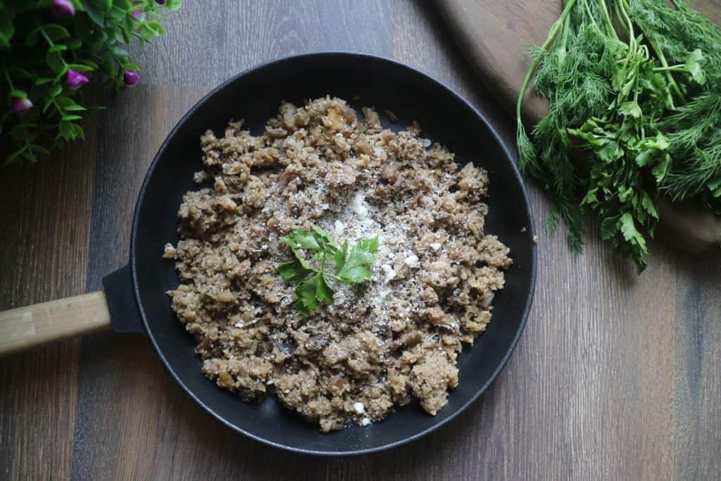 اللحم المفروم والقرنبيط لتحضير محشي كيتو دايت رمضان