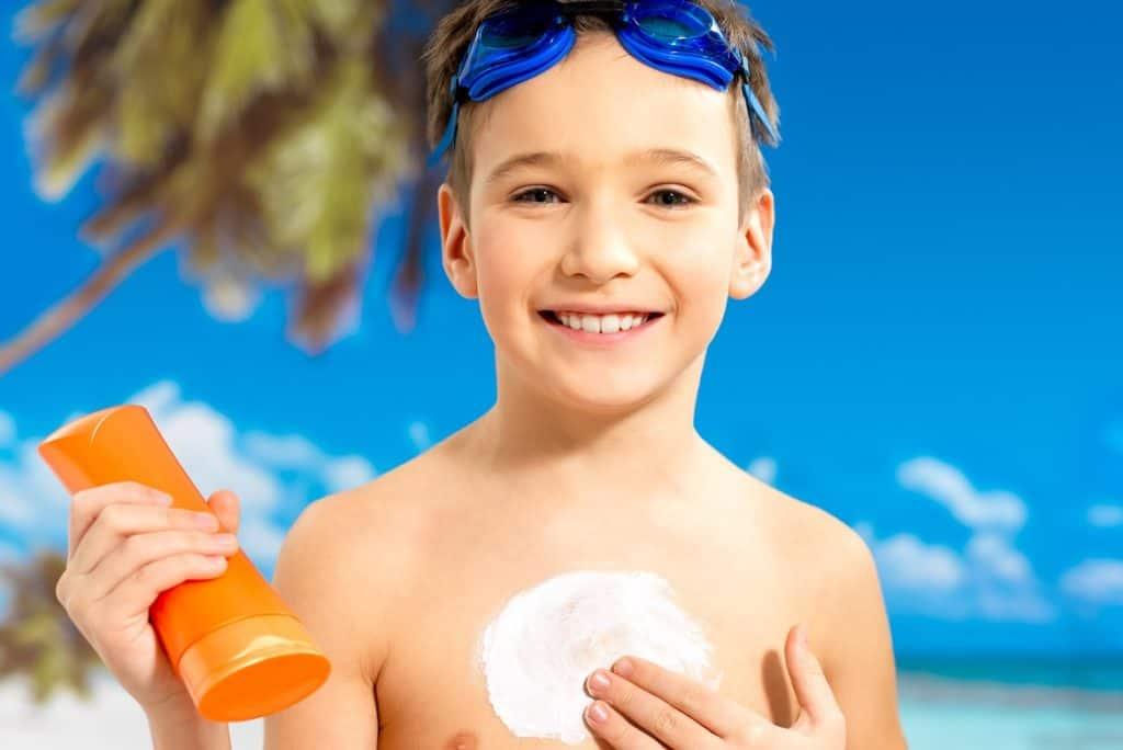 كريم الشمس مهم للأطفال