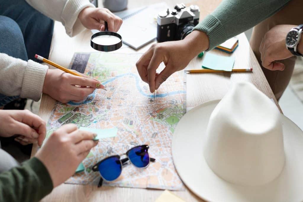 التخطيط للرحلة عند السفر للسياحة لأول مرة