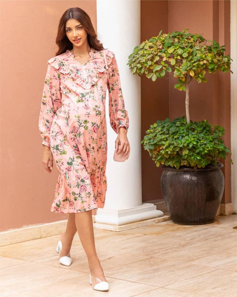 Max Maternity - Floral Dress Ruffles