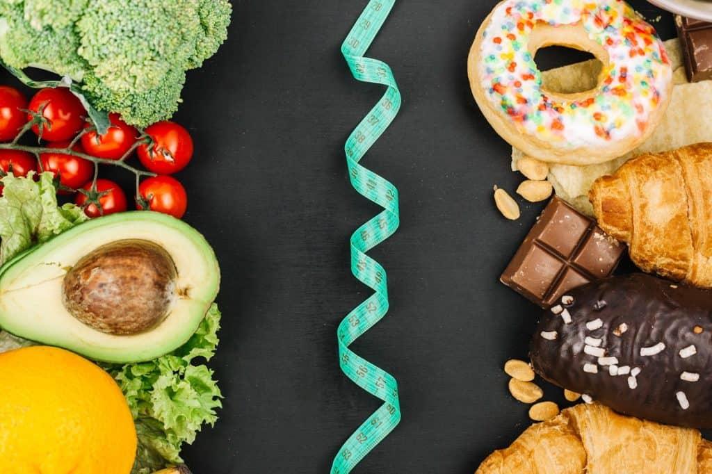 التغذية الصحية وغير الصحية